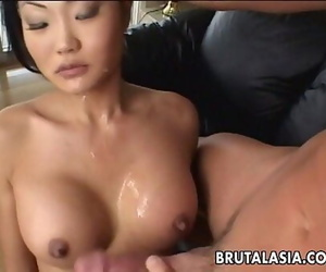 Asian brown-haired fuckslut..