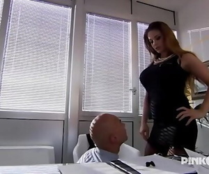 Cathy Heaven Anal in office!..