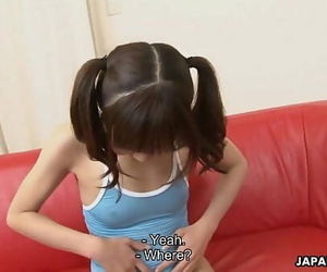 Puny and adorable Asian teen..