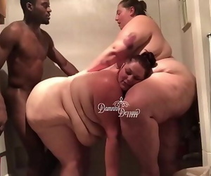 2 BBWs take on 1 BBC 7 min..