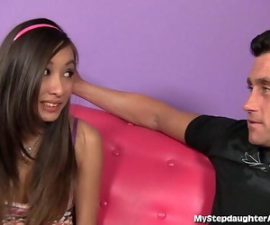 Asian Teenager Gobbles Her..