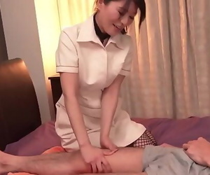 Massage ends with hard..