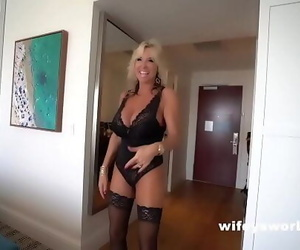 Busty Wife Swallows Cumshot..